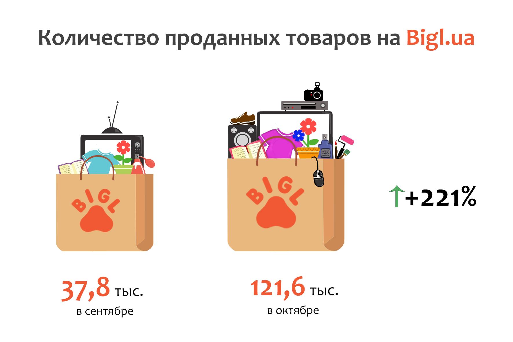 Bigl.ua показал рост 221 %