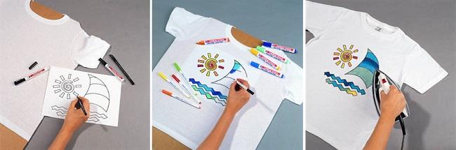 Рисунок на футболке фломастером