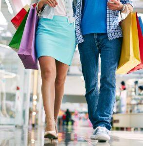 man&woman shopping