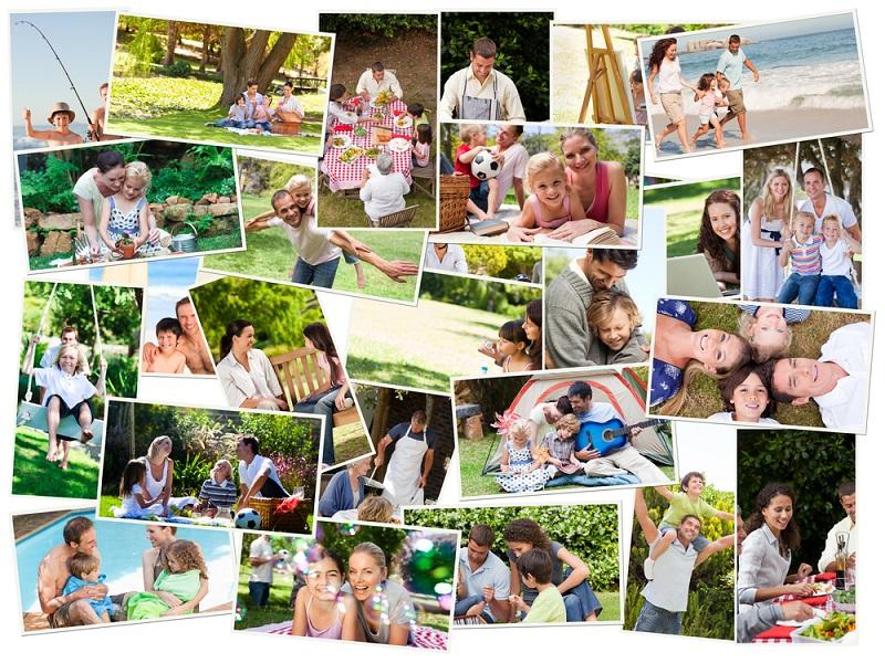 семейный фотоколлаж