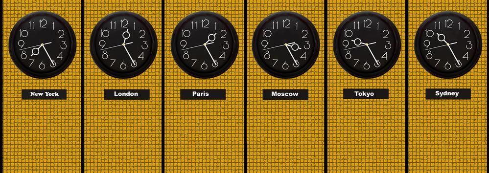 Time zones часовые пояса часы фото