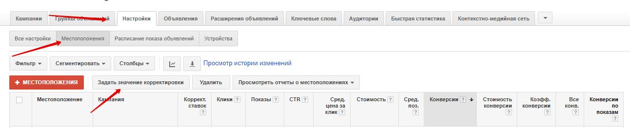 Корректировка ставок в Google Adwords - фото 1