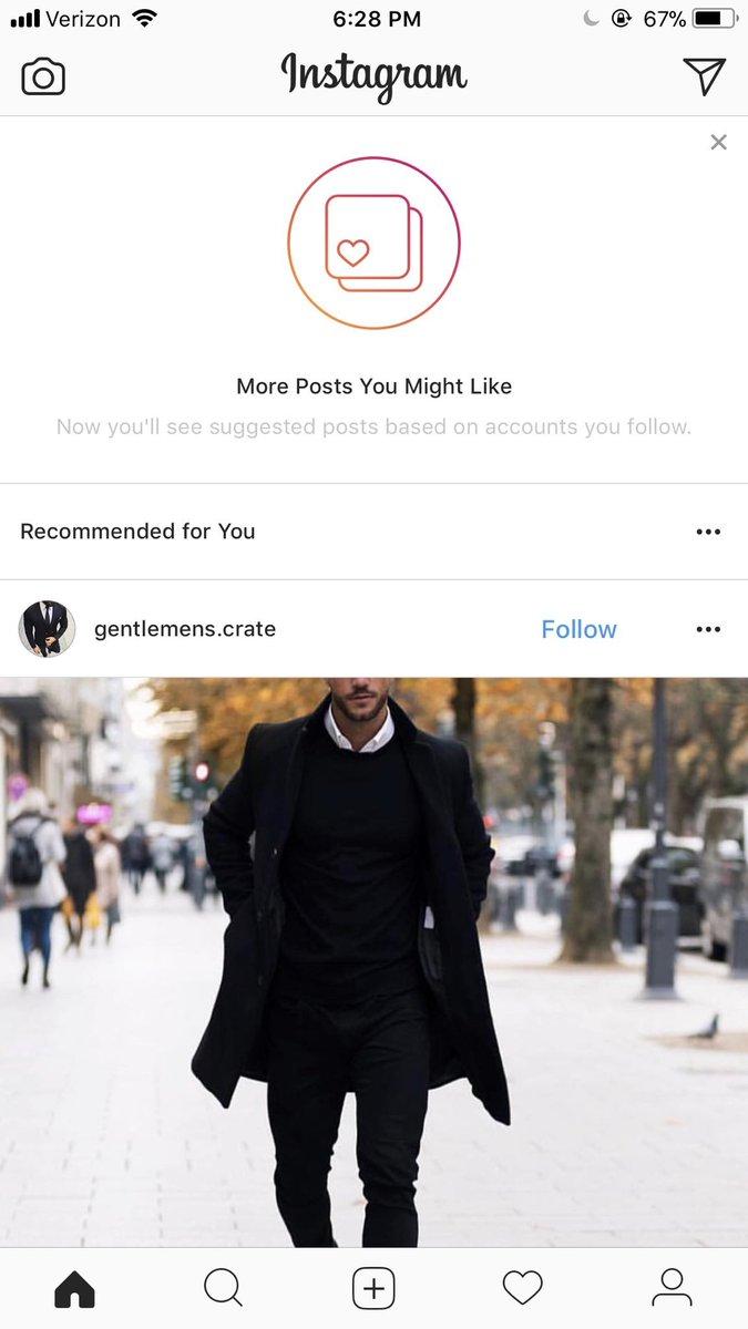 Instagram рекомендует чужие публикации