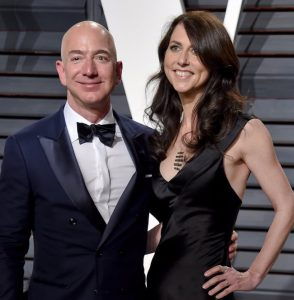 Jeff and MacKenzie Bezos. Evan Agostini/AP Images