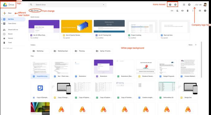 У сервиса Google Drive появился новый дизайн