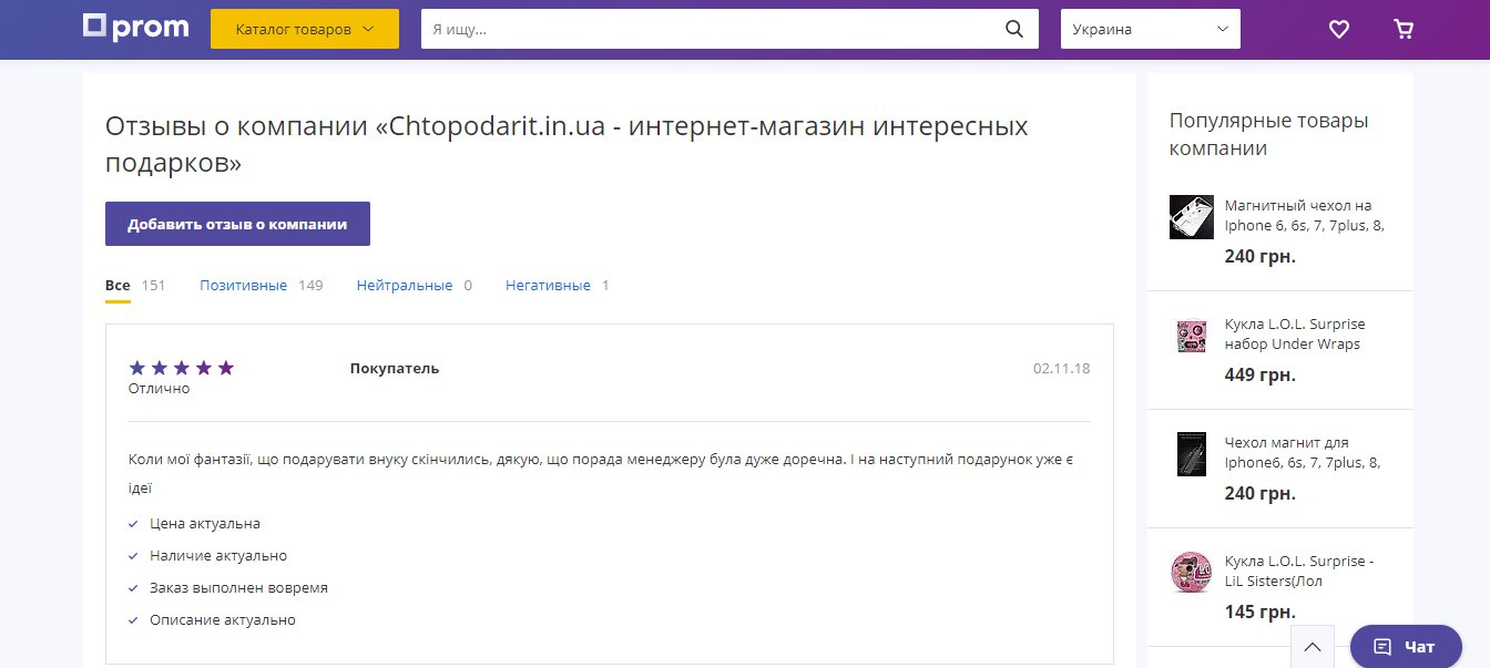 """Личный опыт: интернет-магазин """"Что подарить"""" - фото"""