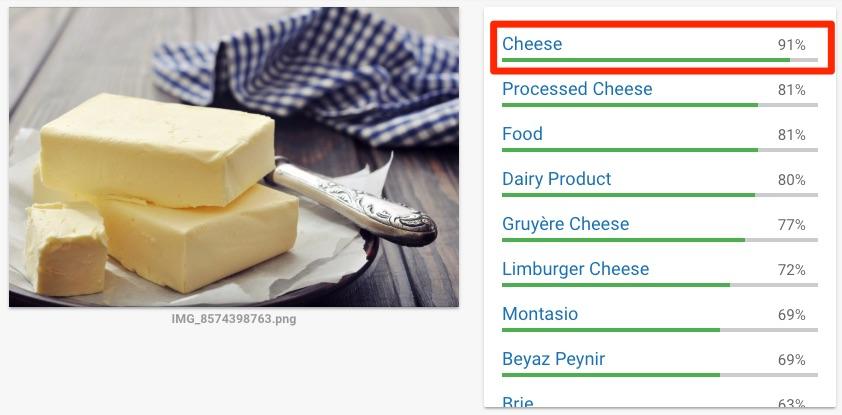 Google ошибается в определении масла и сыра