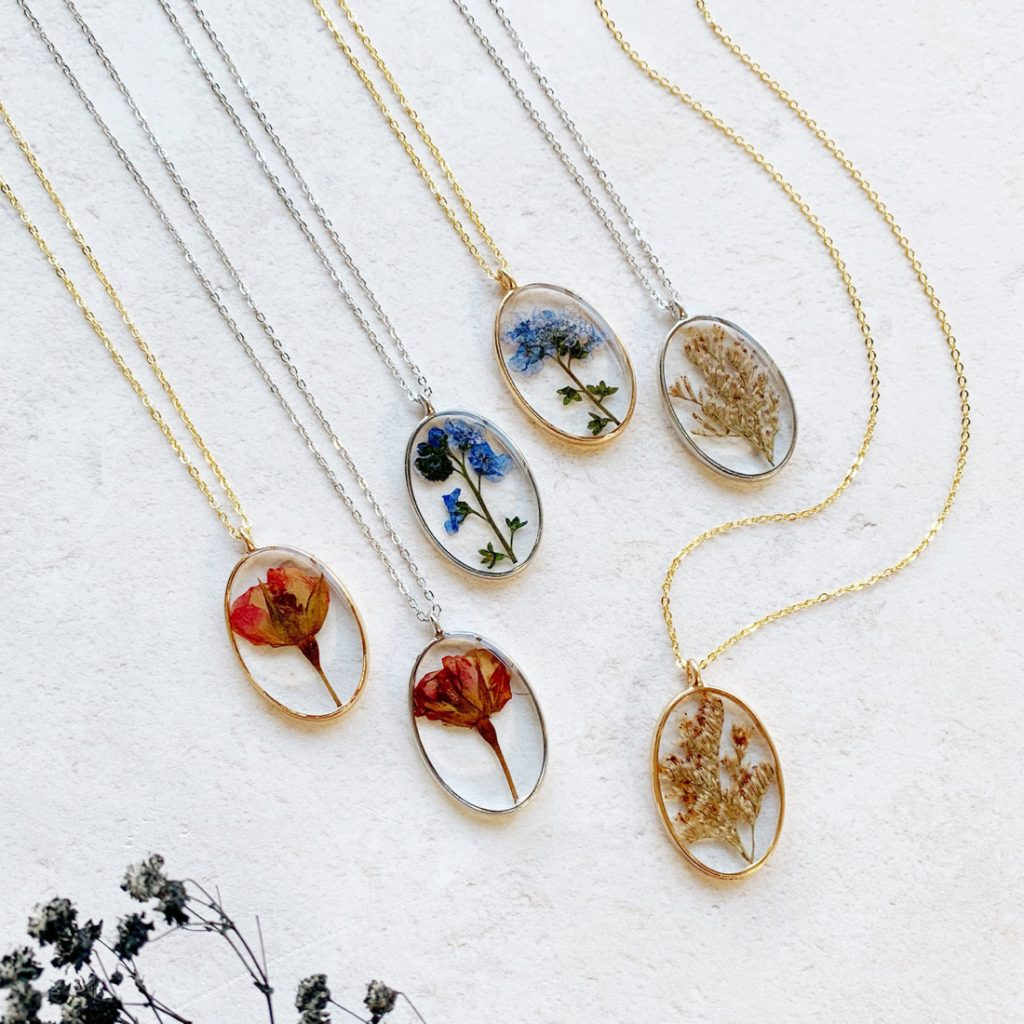 Pressed-Flower-Necklaces